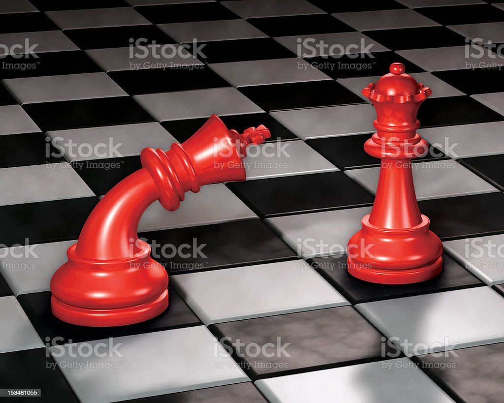 Chess King & Queen stock photo