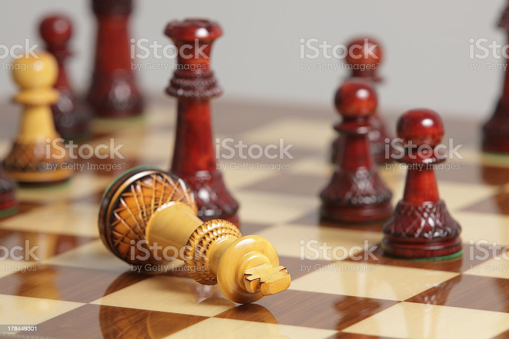 Chess king surrender royalty-free stock photo