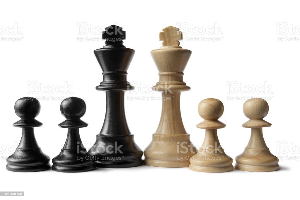 Chess: Kings and Pawns royalty-free stock photo