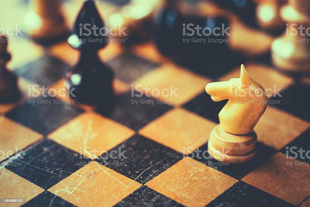 Chess Knight And Bishop stock photo