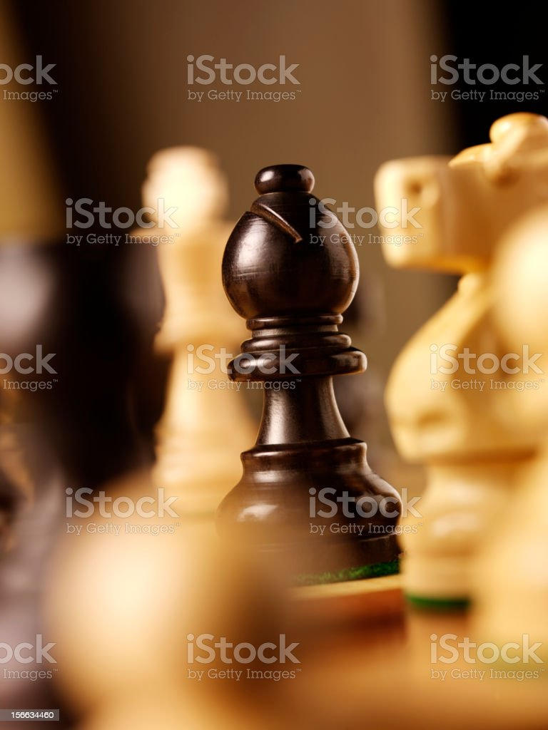 Chess Knight looking at the Bishop royalty-free stock photo