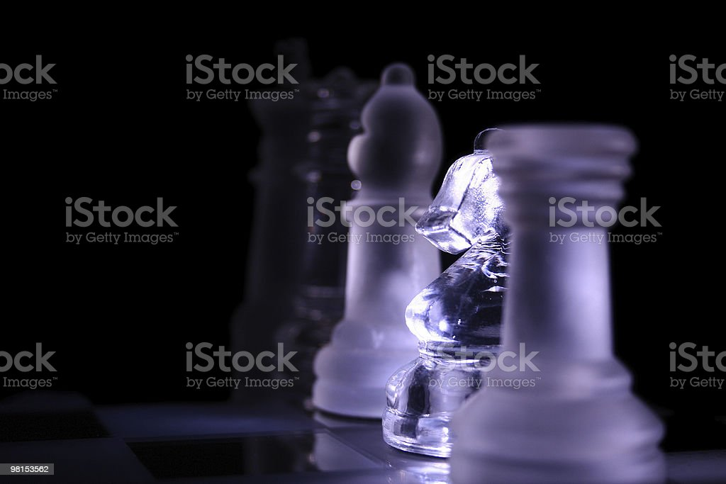 Chess leaders white royalty-free stock photo