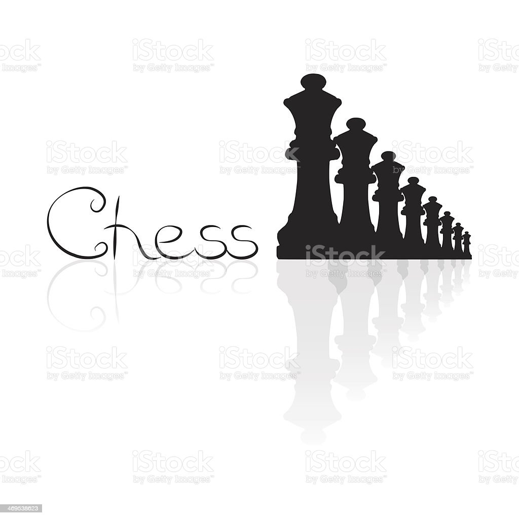 Chess logotype royalty-free stock photo