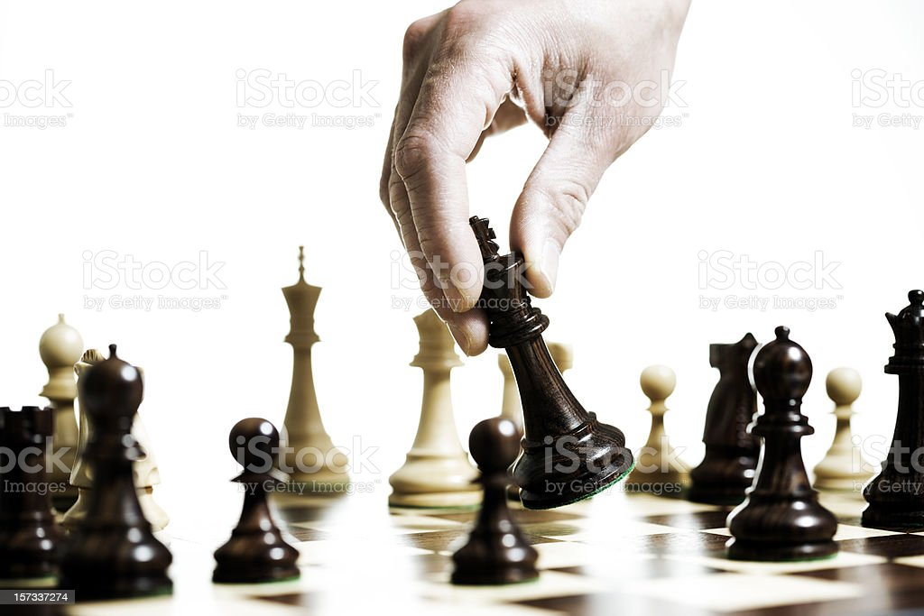 Chess move royalty-free stock photo