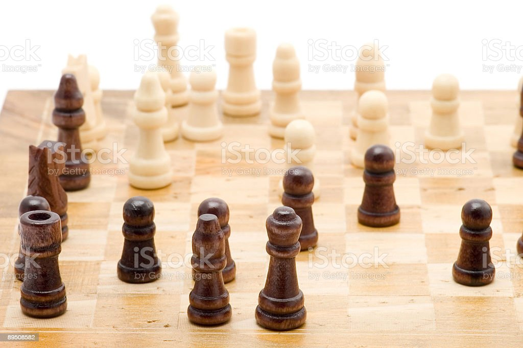 chess on white 免版稅 stock photo