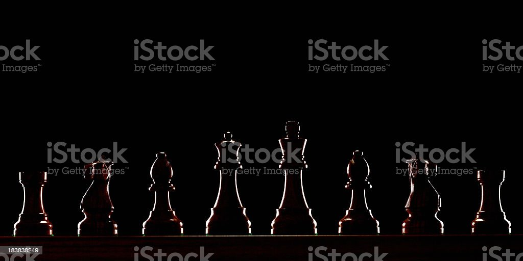 Chess Outline stock photo
