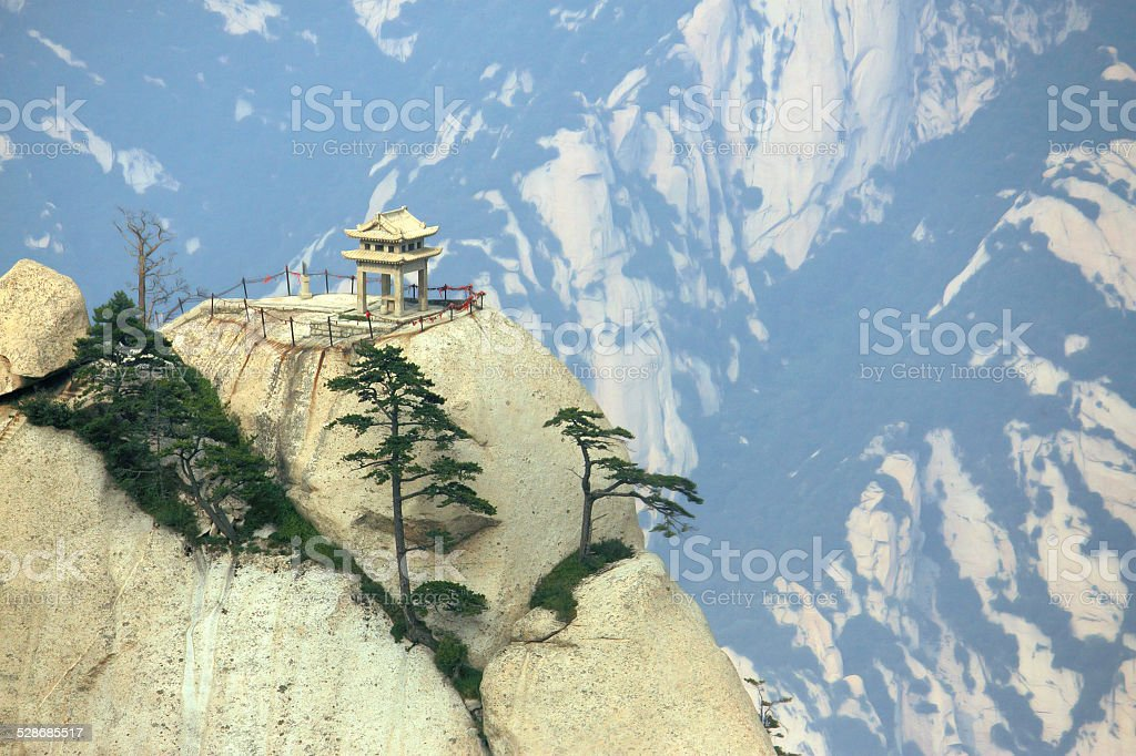 Chess pavilion on Mountain Huangshan stock photo