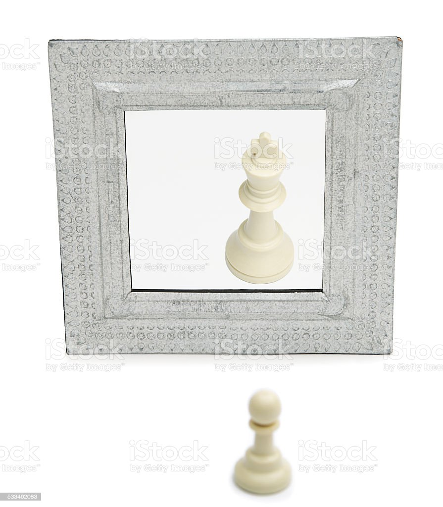 Chess Pawn as a King stock photo