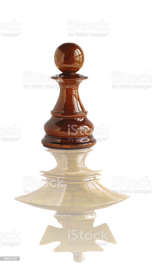 Chess pawn dream to become a king royalty-free stock photo