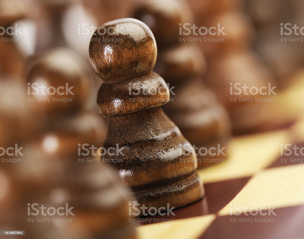 Chess pawn royalty-free stock photo
