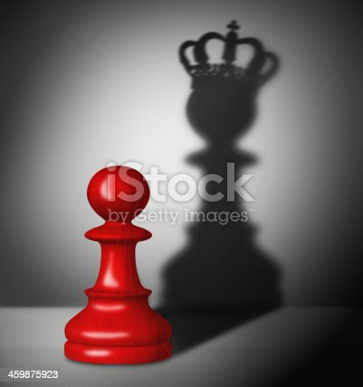 istock Chess pawn with the shadow of a king 459875923