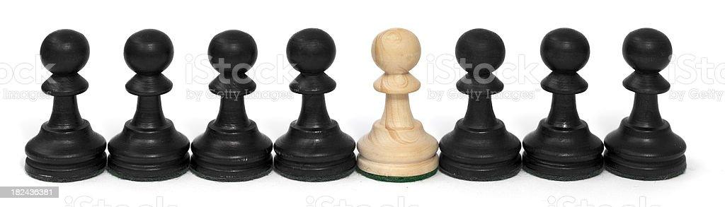 Chess Pawns' Individuality royalty-free stock photo