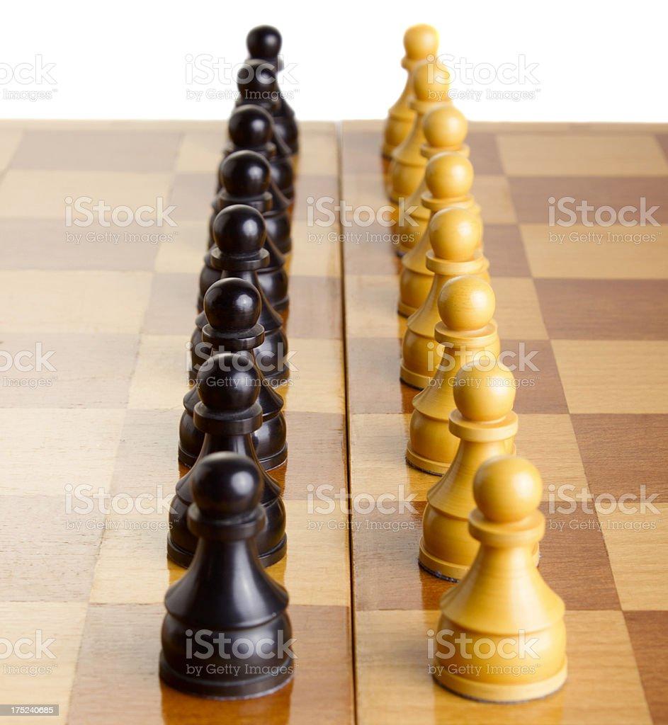 Chess: pawns royalty-free stock photo