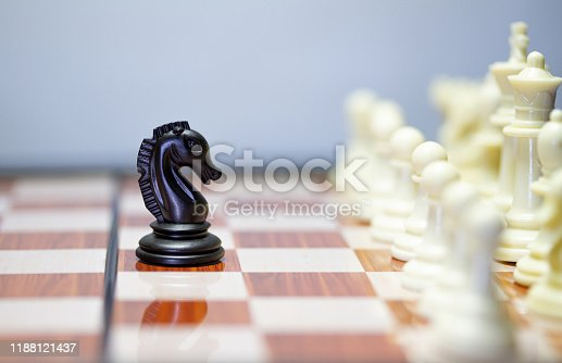 istock Chess photographed on a chessboard 1188121437
