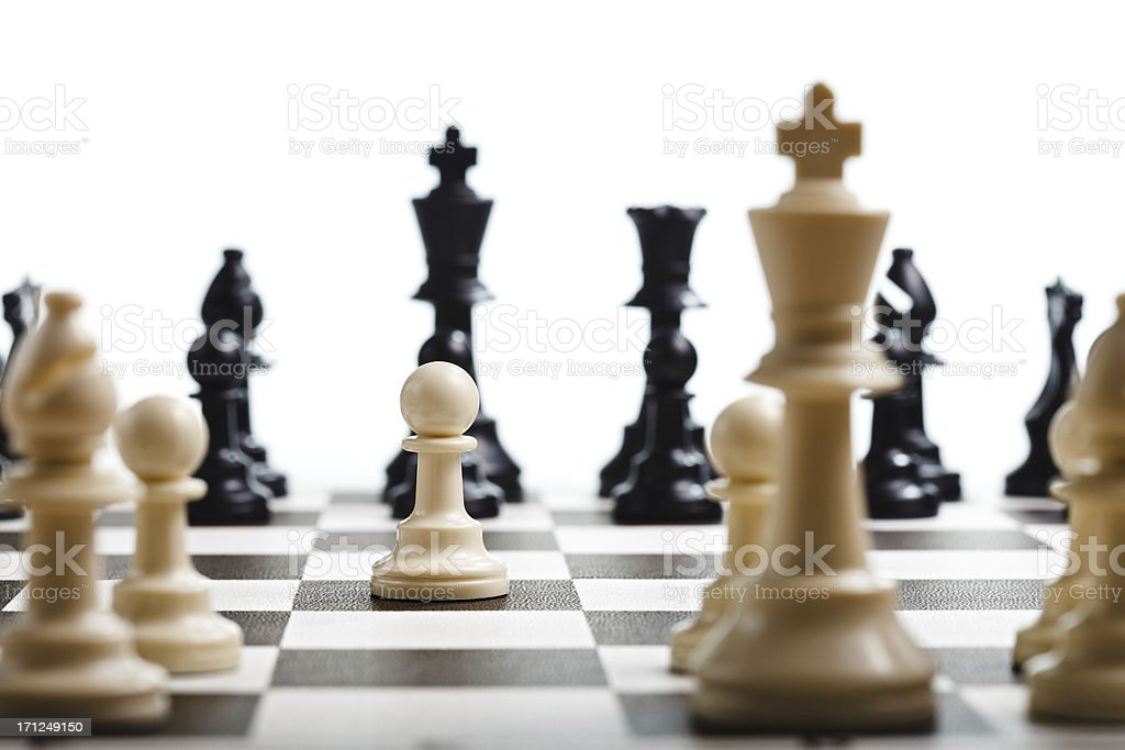 Chess Moving the pawn in a game of chess Activity Stock Photo