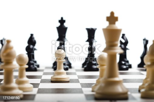 Moving the pawn in a game of chess
