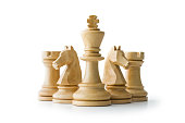 Chess, White Background, Clipping path