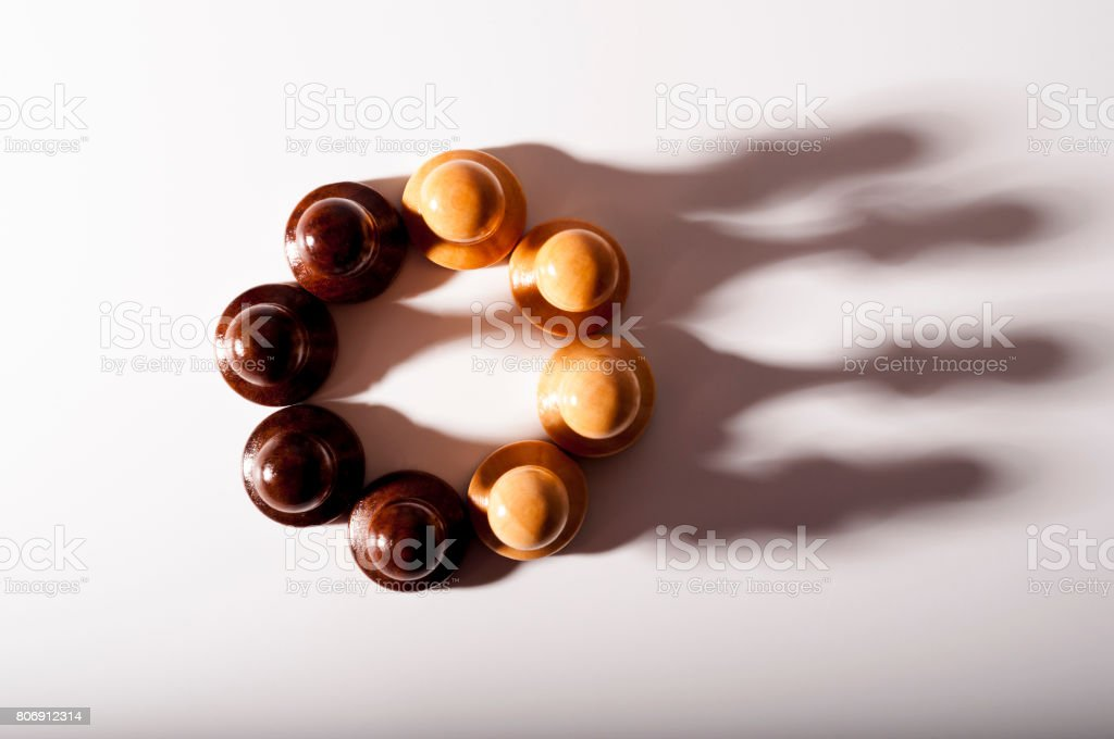 Chess piece crown. Leadership and confidence concept stock photo
