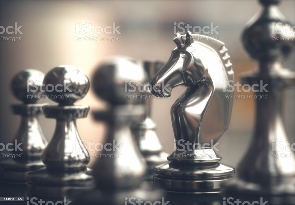 Chess Pieces Chessboard stock photo