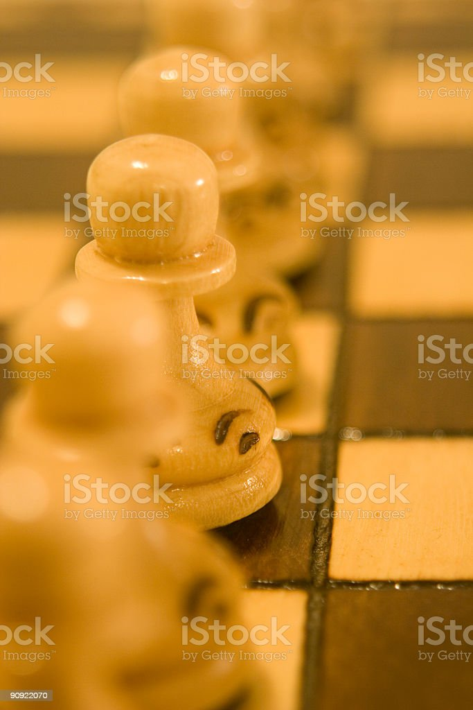 Chess Pieces Closeup royalty-free stock photo