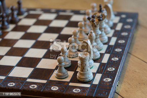 Chess Pieces Detail Board Game