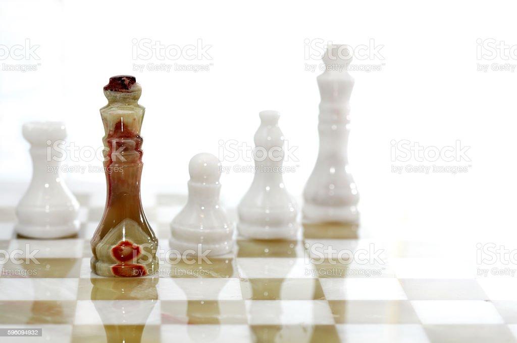 Chess Pieces On Board Lizenzfreies stock-foto