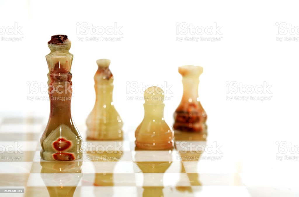 Chess Pieces On Board royalty-free stock photo