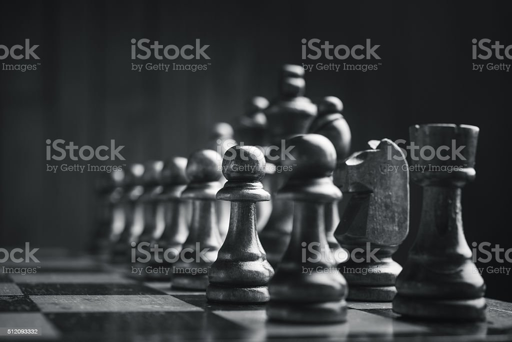 Chess pieces on the board​​​ foto