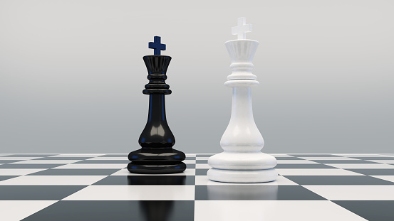 Chess game concept.3d rendering