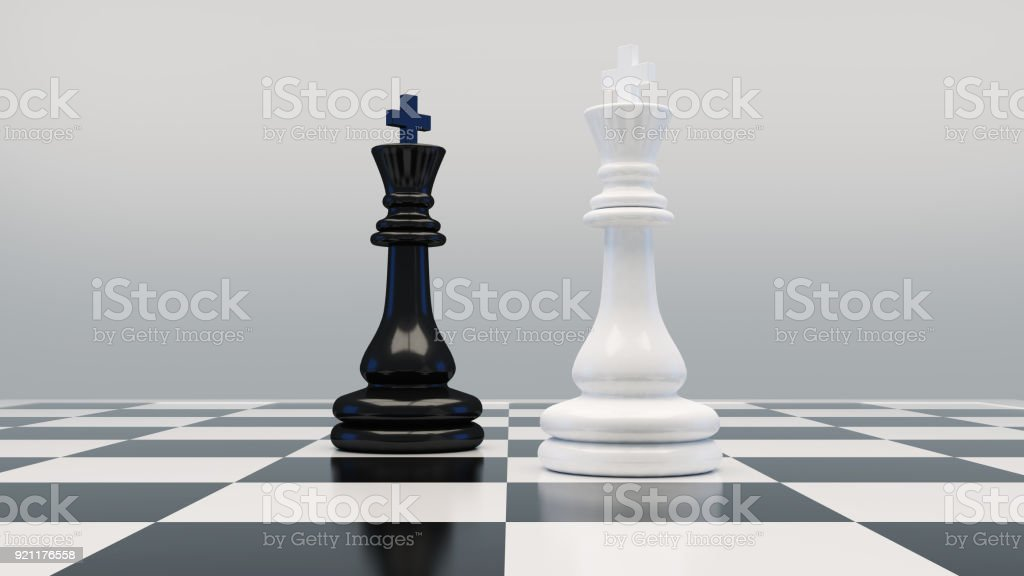 Piezas de ajedrez en la placa - foto de stock