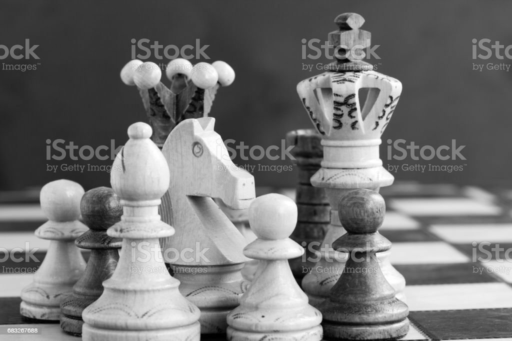 chess pieces on the chessboard Lizenzfreies stock-foto