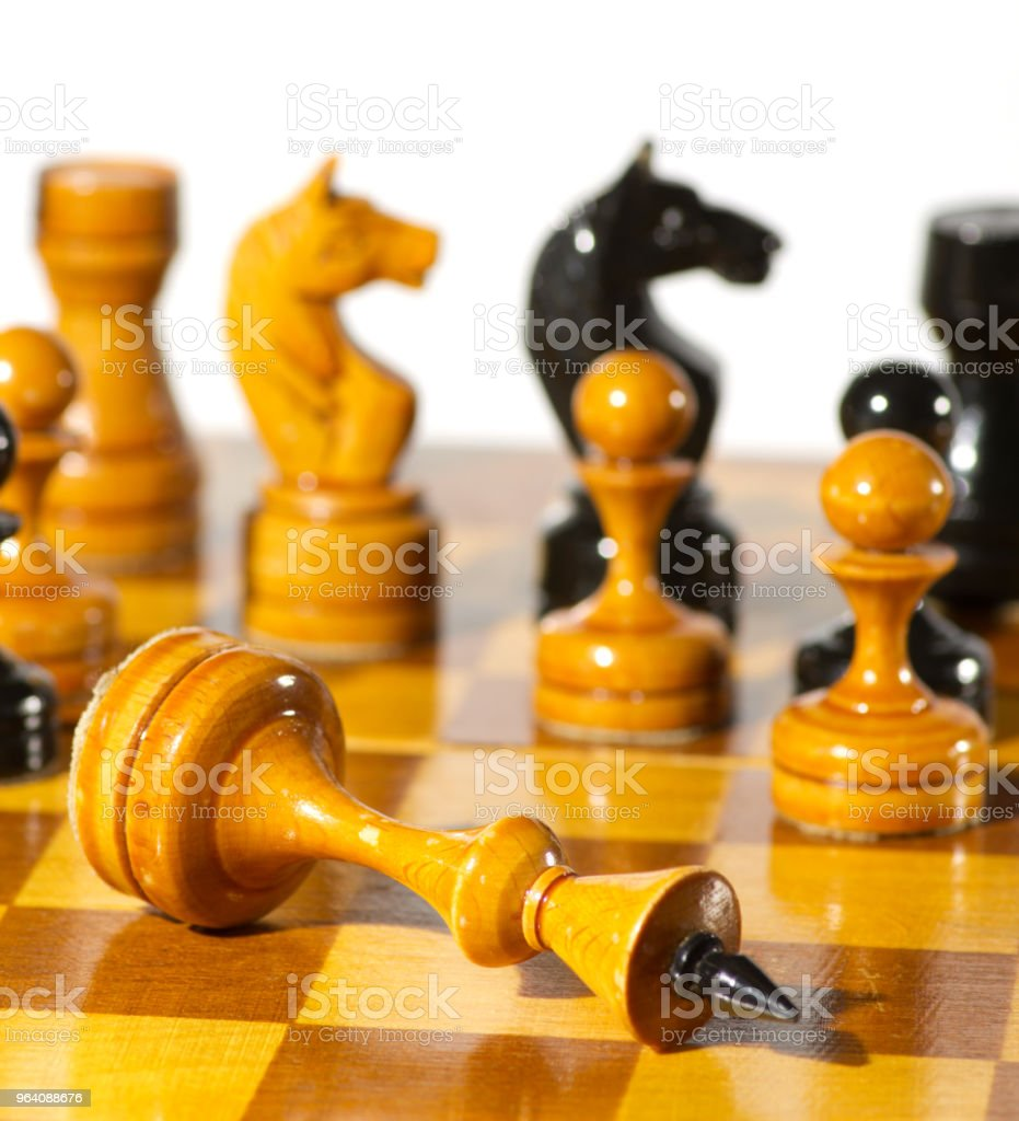 Chess pieces on white - Royalty-free Arranging Stock Photo