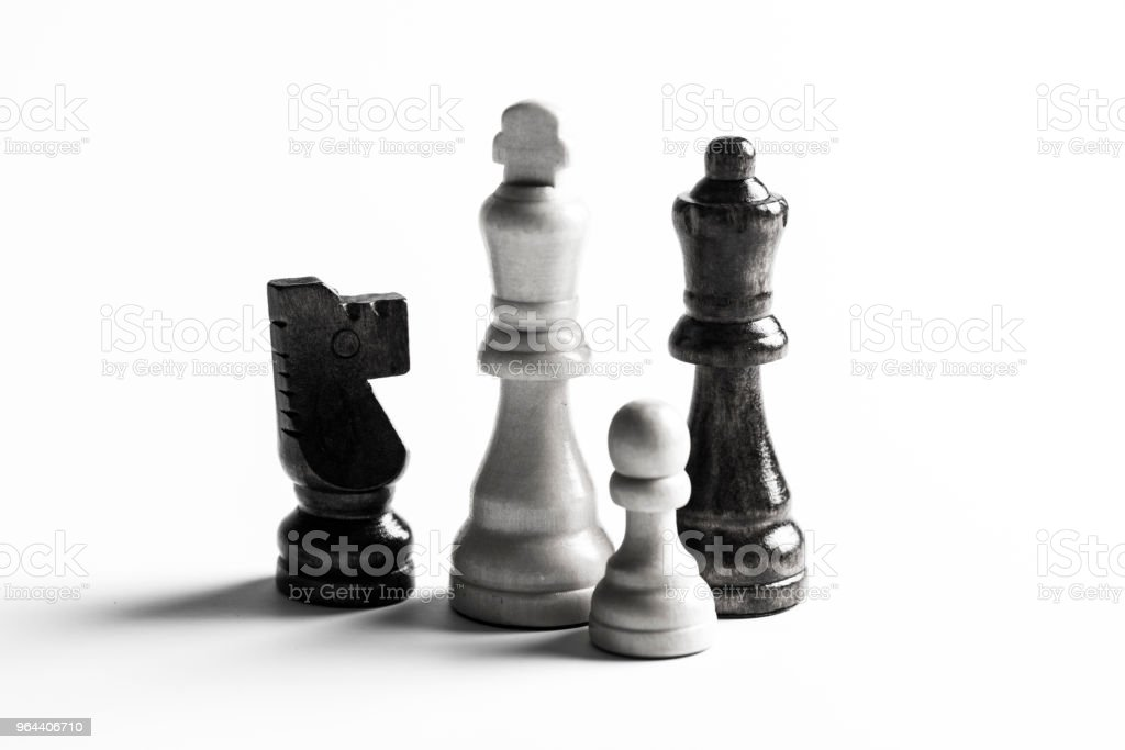 Chess Pieces - Royalty-free Black And White Stock Photo