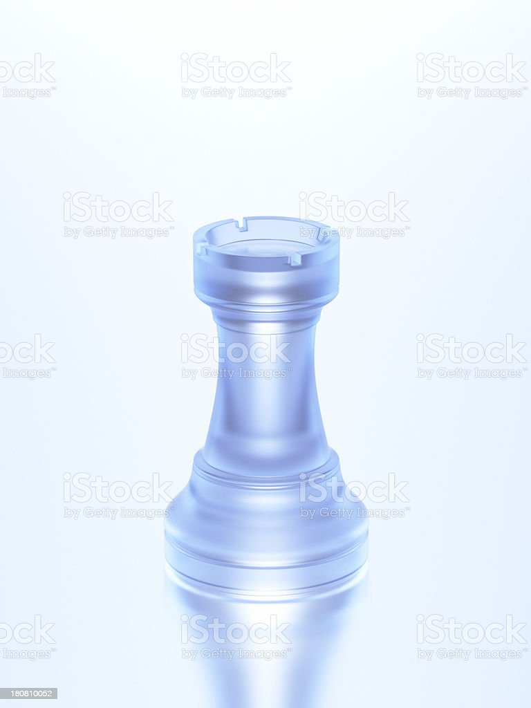 Chess Rook Glass XL+ royalty-free stock photo