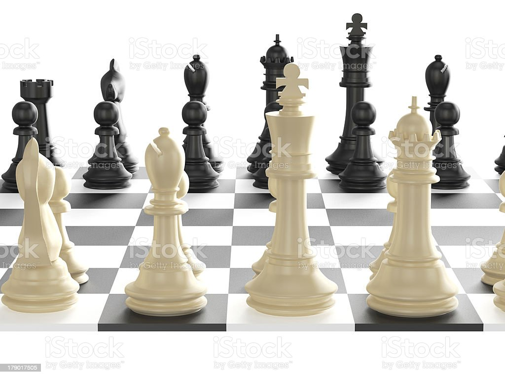 Chess Set and Board stock photo