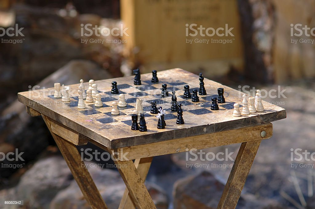 Chess set from 1864 stock photo