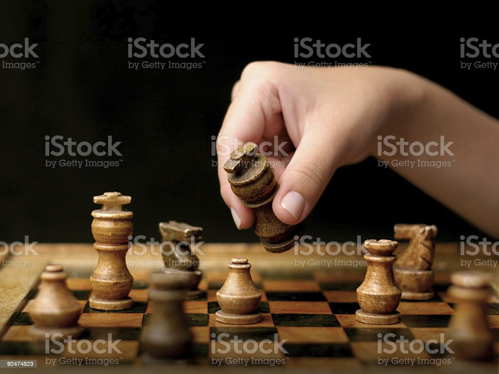 Chess - soft light royalty-free stock photo