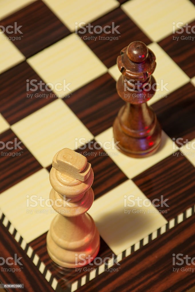 Chess stalemate stock photo