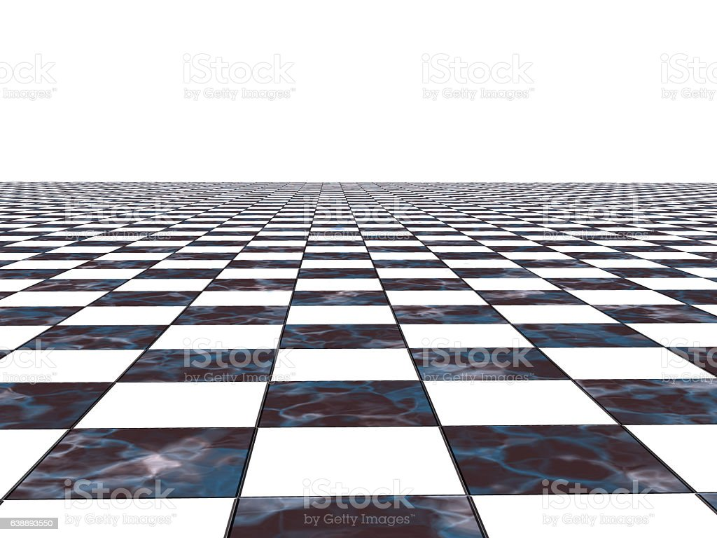 Chess surface in perspective stock photo