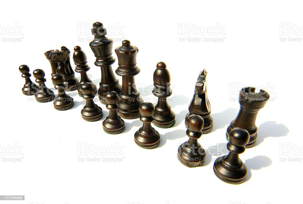 Chess Team Wide Angle royalty-free stock photo