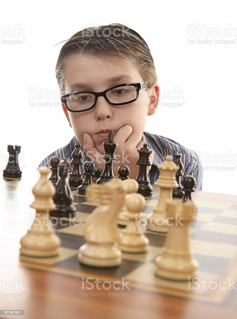 Chess thinker royalty-free stock photo