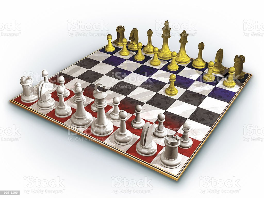 Chess Turkey vs. EU royalty-free stock photo