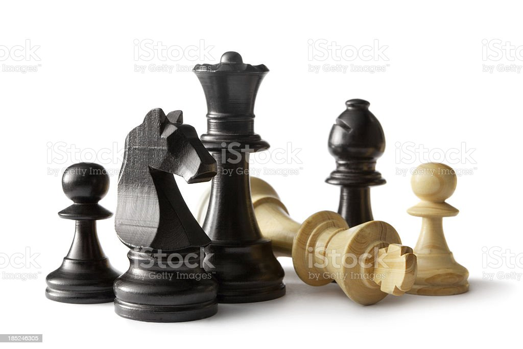 Chess: Various Pieces stock photo