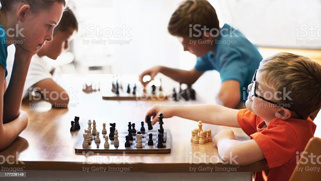 Chess whiz stock photo