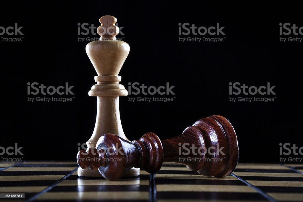chess: winner and a loser stock photo