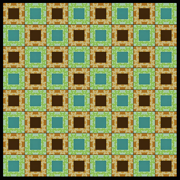 chess board design based on fractal image - whiteway fractal stock photos and pictures