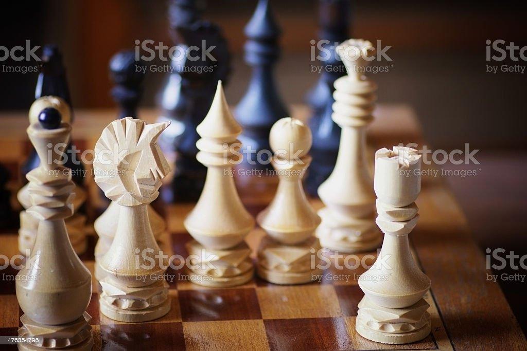chessboard figure game confrontation stock photo