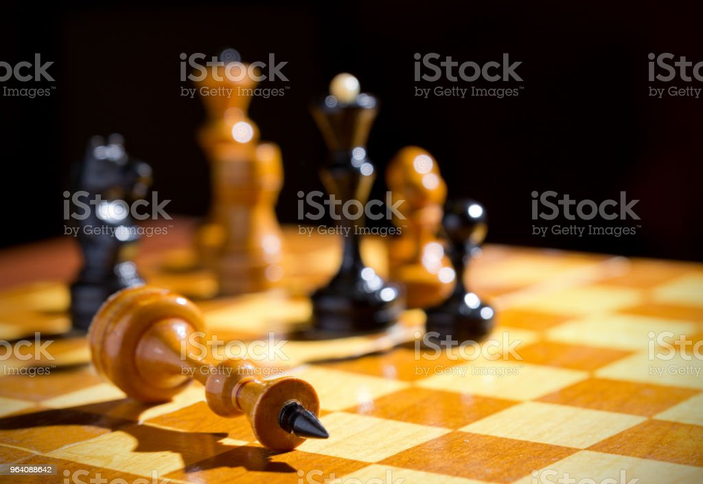 Chessboard with figures - Royalty-free Arranging Stock Photo