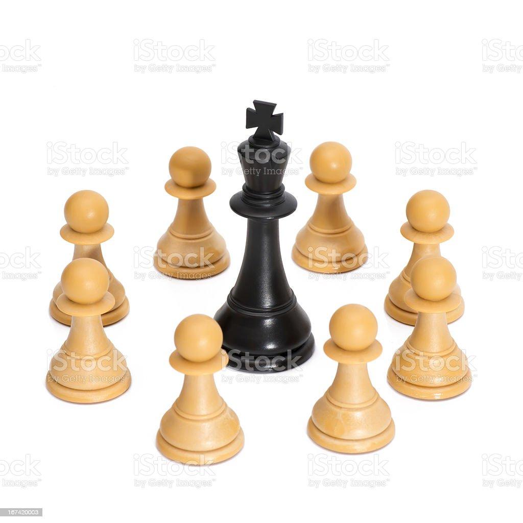 Chessmen Isolated on White royalty-free stock photo