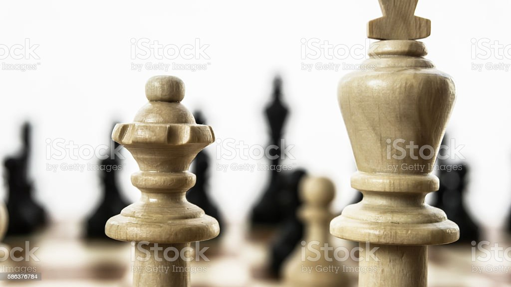 chessmen king and lady stock photo